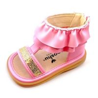 Mooshu Trainers® Size 3 Lucy Ruffle Sandal in Pink