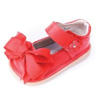 Mooshu Trainers Size 6 Ready Set Bow Mary Jane Shoe in Red