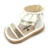 Mooshu Trainers® Size 5 Lucy Ruffle Sandal in White