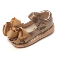 Mooshu Trainers Size 5 Ready Set Bow Mary Jane Shoe in Bronze