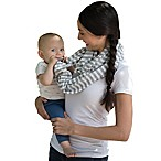 Boppy™ Teething Scarf in Grey/White Stripes