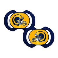 Baby Fanatic® NFL Vintage Los Angeles Rams 2-Pack Pacifier