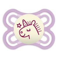 MAM Perfect Night Glow Orthodontic Size 0-6 Months Pacifier in Purple