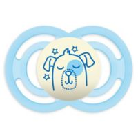 MAM Perfect Night Glow Orthodontic Size 6+ Months Pacifier in Blue