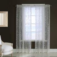 Grandeur 84-Inch Rod Pocket Window Curtain Panel in White