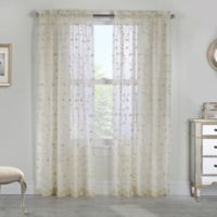 Grandeur 95-Inch Rod Pocket Window Curtain Panel in Cream