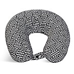 World's Best Wolf Fiber-Filled Neck Pillow in Grey Print