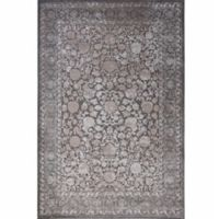 "Home Dynamix Infinity Floral Bordered 2'2"" x 7'3"" Runner in Grey"