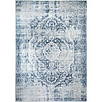 "Home Dynamix Kenmare by Nicole Miller Medallion 2'2"" x 7'2"" Runner in Grey/Blue"