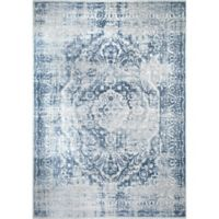 """Home Dynamix Kenmare by Nicole Miller Medallion 9'2"""" x 12'5"""" Area Rug in Grey/Blue"""