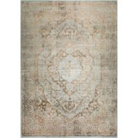 "Home Dynamix Kenmare by Nicole Miller Medallion 9'2"" x 12'5"" Area Rug in Grey/Yellow"