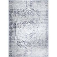 "Home Dynamix Kenmare by Nicole Miller Medallion 9'2"" x 12'5"" Area Rug in Grey"