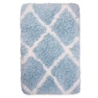 "Casey Diamond by Nicole Miller 2'2"" x 3'8"" Shag Accent Rug in Blue"