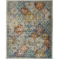 "Parlin by Nicole Miller Patchwork 2'7"" x 3'11"" Accent Rug in Ivory/Multi"