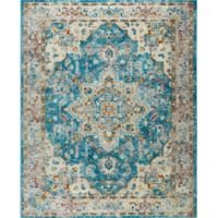 """Parlin by Nicole Miller Medallion 2'7"""" x 3'11"""" Accent Rug in Blue/Grey"""