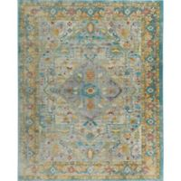 "Parlin by Nicole Miller Medallion 5'3"" x 6'9"" Area Rug in Grey/Yellow"
