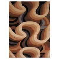 United Weavers Contours Sky Zone 2' x 4' Accent Rug in Toffee