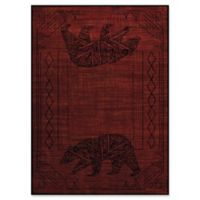 United Weavers Affinity Bear Cave 5' x 8' Area Rug in Red