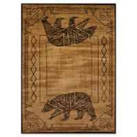 United Weavers Affinity Bear Cave 5' x 8' Area Rug in Gold