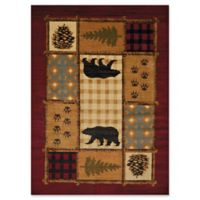 United Weavers Affinity Lodge Mosaic 5'3 x 7'2 Multicolor Area Rug