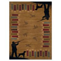 United Weavers Affinity Bird Shot Tufted 2' x 8' Accent Rug in Gold