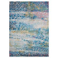 United Weavers Rhapsody Midlothian Tufted 2' x 8' Accent Rug in Cyan