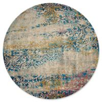 United Weavers Rhapsody Midlothian Tufted 8' x 8' Accent Rug in Cyan