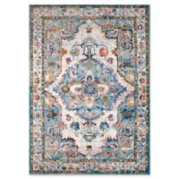 United Weavers Rhapsody Kent Tufted 2' x 8' Accent Rug in Cerulean
