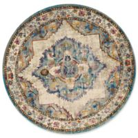 United Weavers Rhapsody Kent Tufted 8' x 8' Accent Rug in Cerulean