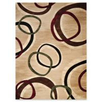 United Weavers Contours Cul de Sac Tufted 9' x 12' Accent Rug in Beige