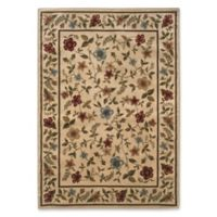 Amaya Rugs Chapman Framed Floral 5' x 7'3 Area Rug in Ivory