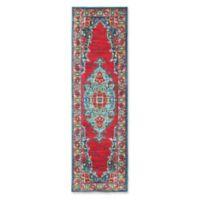 Oriental Weavers Joli Geometric 2'3 x 7'6 Runner in Blue
