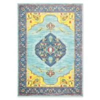 Oriental Weavers Joli Damask 3'10 x 5'5 Area Rug in Blue/Yellow