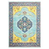 Oriental Weavers Joli Damask 5'3 x 7'6 Area Rug in Blue/Yellow
