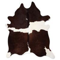 Kobe Cowhide 5' x 7' Area Rug in Chocolate/White