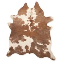 Kobe Cowhide 5' x 7' Area Rug in Brown/White