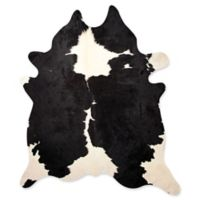 Kobe Cowhide 5' x 7' Area Rug in Black/White