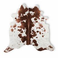 Kobe Cowhide 5' x 7' Salt & Pepper Area Rug in Brown/White