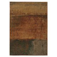 Oriental Weavers Kasbah Stripes 7'8 x 10'10 Area Rug in Orange