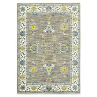 Oriental Weavers Joli Damask 9'10 x 12'10 Area Rug in Grey/Yellow
