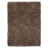 Soho 2'6 x 3'9 Shag Accent Rug in Brown