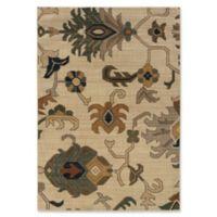 Oriental Weavers Kasbah Floral 5'3 x 7'6 Area Rug in Ivory