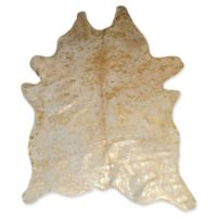 Natural Rugs Scotland Cowhide 5' x 7' Area Rug in Natural/Gold