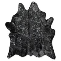 Natural Rugs Scotland Cowhide 5' x 7' Area Rug in Black/Silver