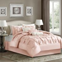 Madison Park Laurel 7-Piece California King Comforter Set in Blush