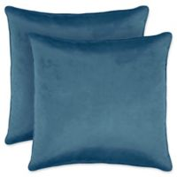 Laura Ashley Lucas Collection Throw Pillow in Blue (Set of 2)