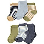 Touched by Nature Size 0-6M 6-Pack Boys Organic Cotton Socks in Blue