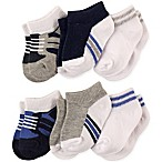 Luvable Friends® Size 12-24M 6-Pack No-Show Ankle Socks in Blue