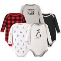 Hudson Baby® Size 18-24M 5-Pack Long Sleeve Penguin Bodysuits