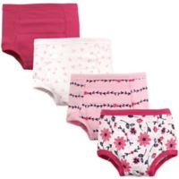 Hudson Baby® Size 4T 4-Pack Flower Toddler Training Pants in Pink